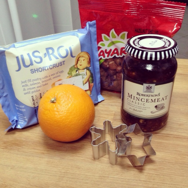 Easy Mince Pie ingredients