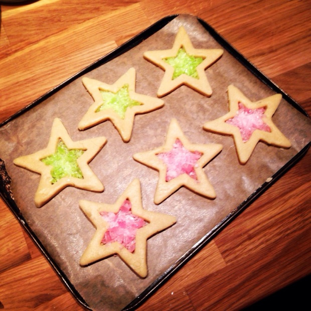 Stained-glass window biscuits