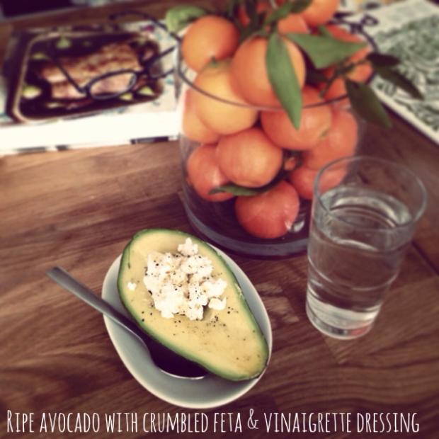 Avocado with Feta