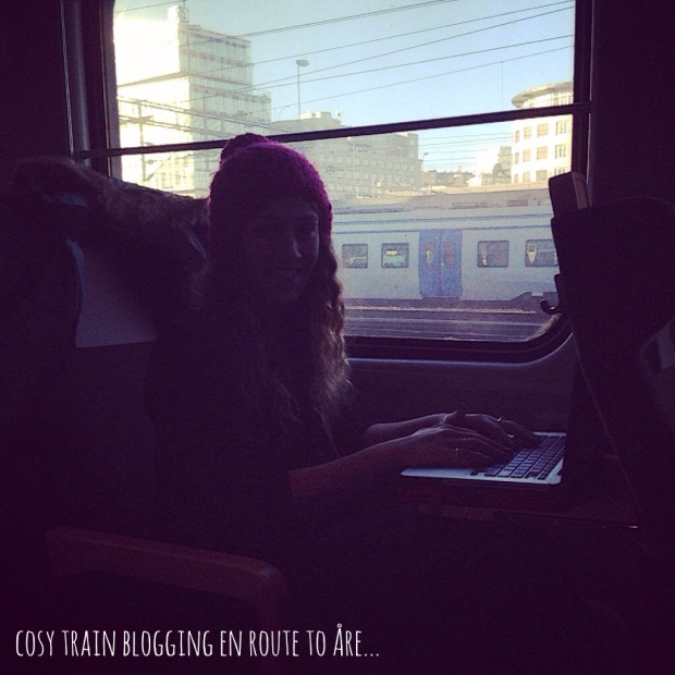 train blogging