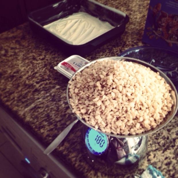 Marshmallow Rice Crispy Squares