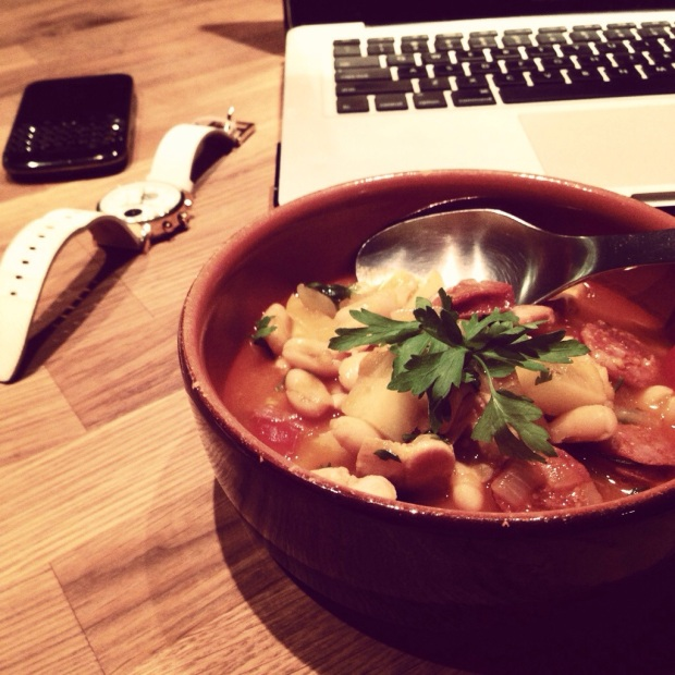 Spanish bean stew