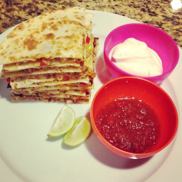 Black-Eyed Bean Quesadillas