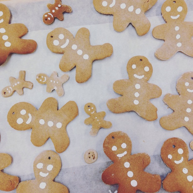 Salt Dough Gingerbread Men